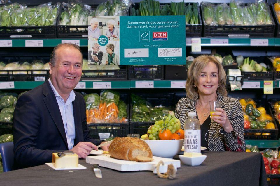 Ondertekening convenant Samen sterk voor gezond eten - Leendert van Eck en Jolanda Buwalda (Foto: door Bas Zwerver.)