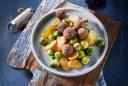 Wat eten wij vandaag: Gebakken aardappels met gehaktballetjes en spruitjes