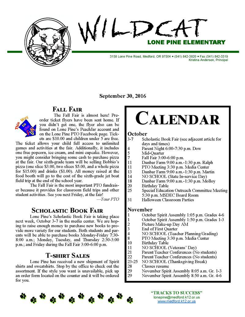 Lone Pine Elementary / Homepage