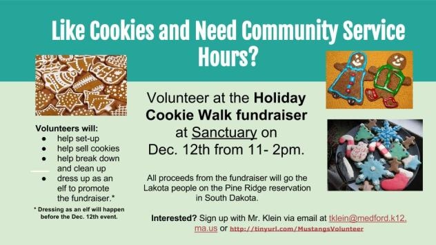 Holiday Cookie walk fundraiser- for website