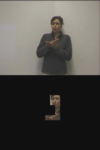 sign language presenter on mobile phone