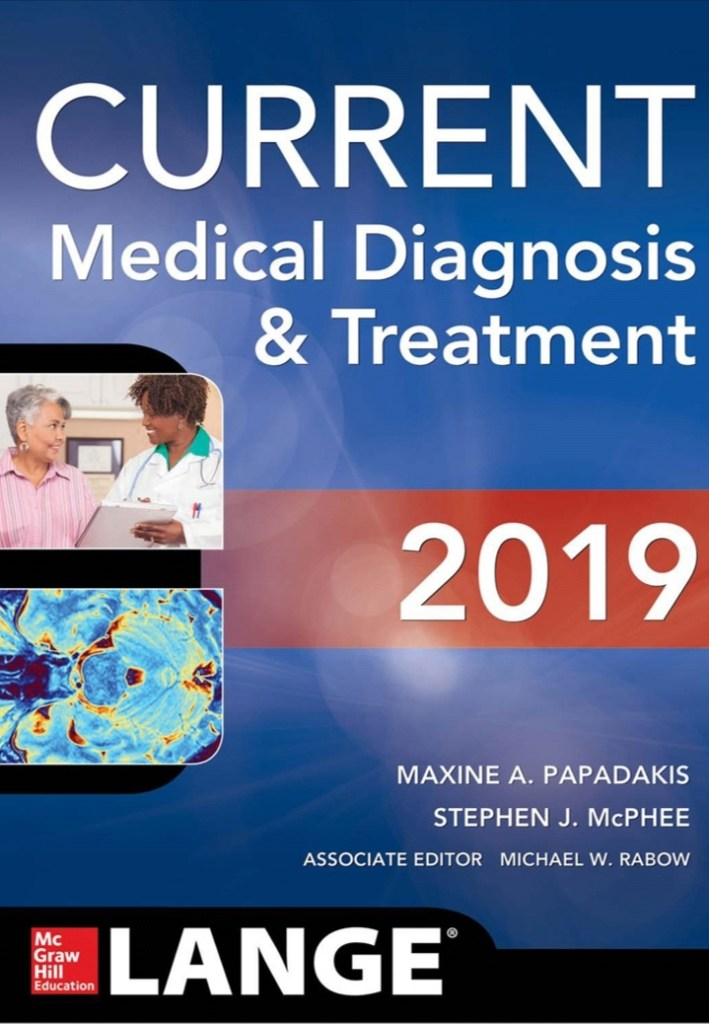 Book Cover: CURRENT MEDICAL DIAGNOSIS AND TREATMENT 2019