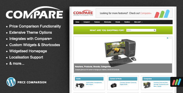 price comparison tema wordpress