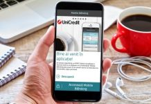 Aplicatia Unicredit Mobile Banking