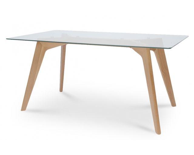 coton pastel table a manger scandinave plateau verre