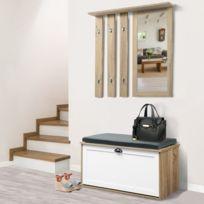 free idmarket vestiaire dentre luxe en bois blanc et htre meuble chaussures with meuble entre couloir