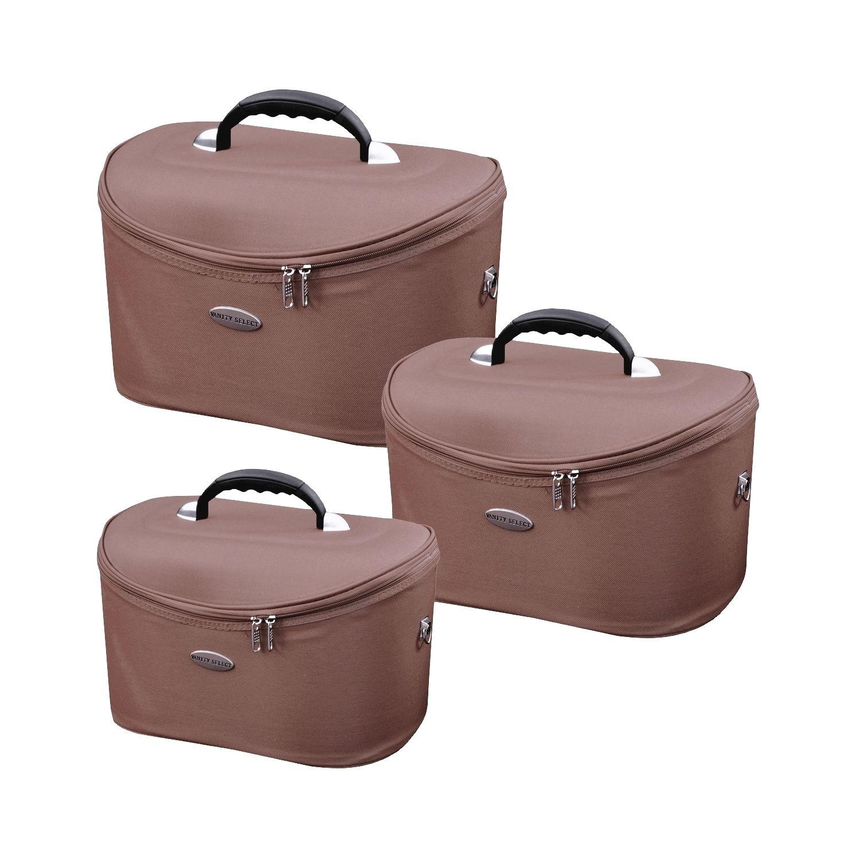 promobo ensemble lot 3 vanity eva professionnel malette avec miroir estheticienne pour maquillage cosmetique voyage