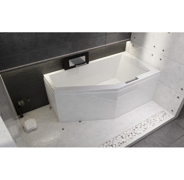 riho strong baignoire strong acrylique dangle gauche geta 160x90 cm avec