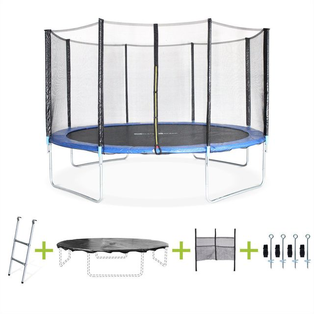 alices garden mercure xxl trampoline rond cm avec son filet echelle bache