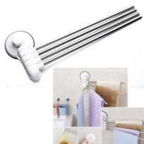 accessoires salle de bain fixation