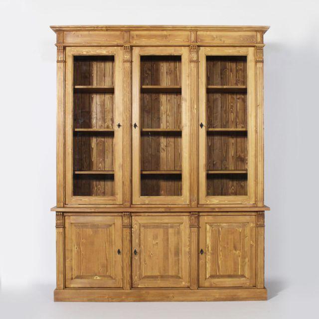 buffet vaisselier bois 6 portes ref n118 bois