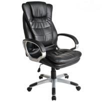 helloshop26 fauteuil de bureau chaise siege classique ergonomique confortable noir 0508002