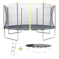 alices garden pack trampoline complet cm chavanis avec filet echelle et bache