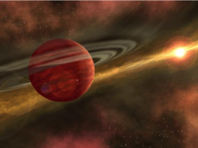 Immagine artistica di un esopianeta su un'orbita molto distante dalla sua stella madre. Crediti: NASA/JPL Caltech