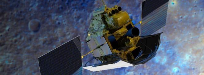 La sonda NASA MESSENGER nel rendering di un artista.
