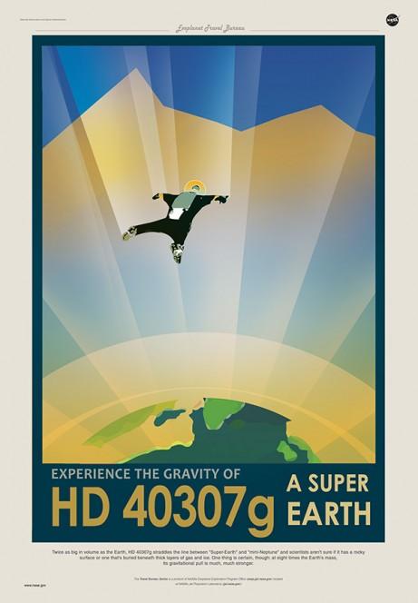 HD 40307G: prova la gravità di una Super Terra. Crediti: JPL / NASA.