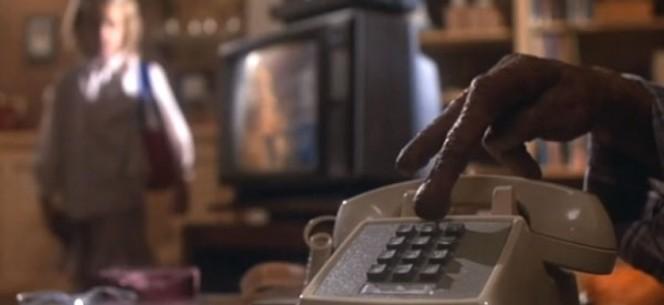 E.T. l'extra-terrestre, in una scena della pellicola di fantascienza diretta da Steven Spielberg. USA 1982.