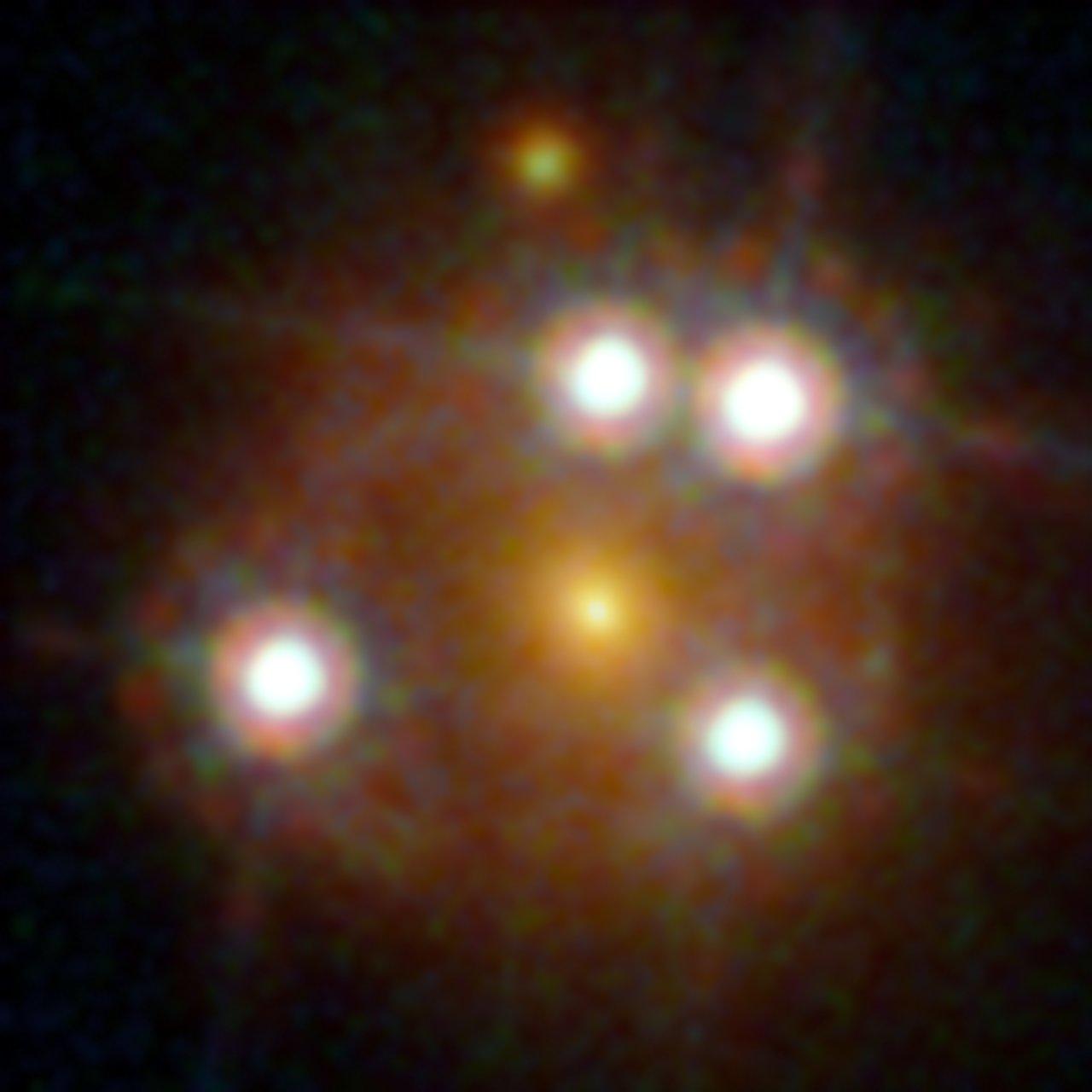 Il lensed quasar WFI2033-4723. Crediti: ESA/Hubble, NASA, Suyu et al.