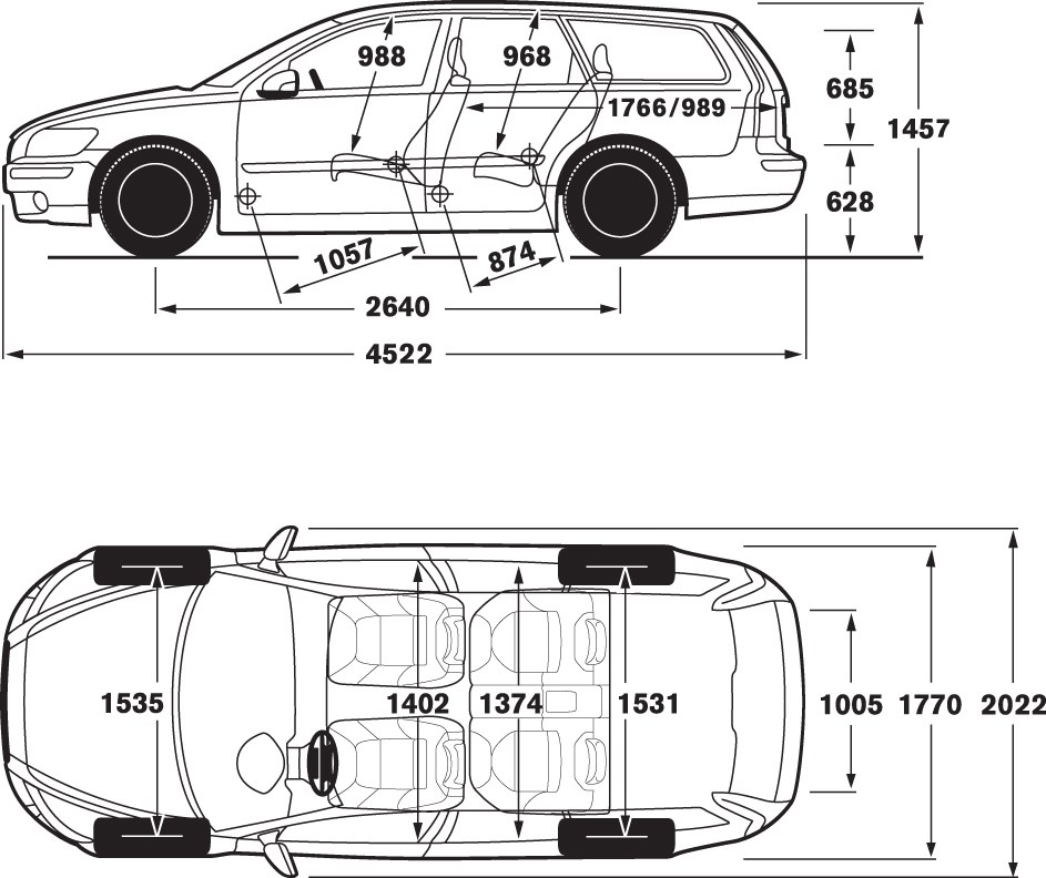 Dimensions Volvo V40. 2012 volvo c30 dimensions photo 10