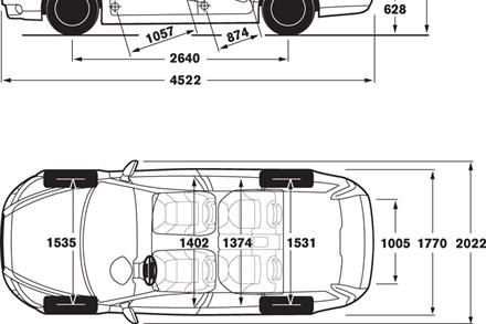 Volvo V40 Dimensions