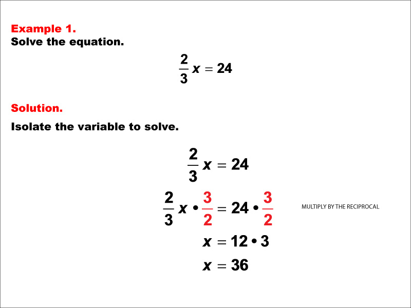 Math Example: Equations with Fractions: Example 01