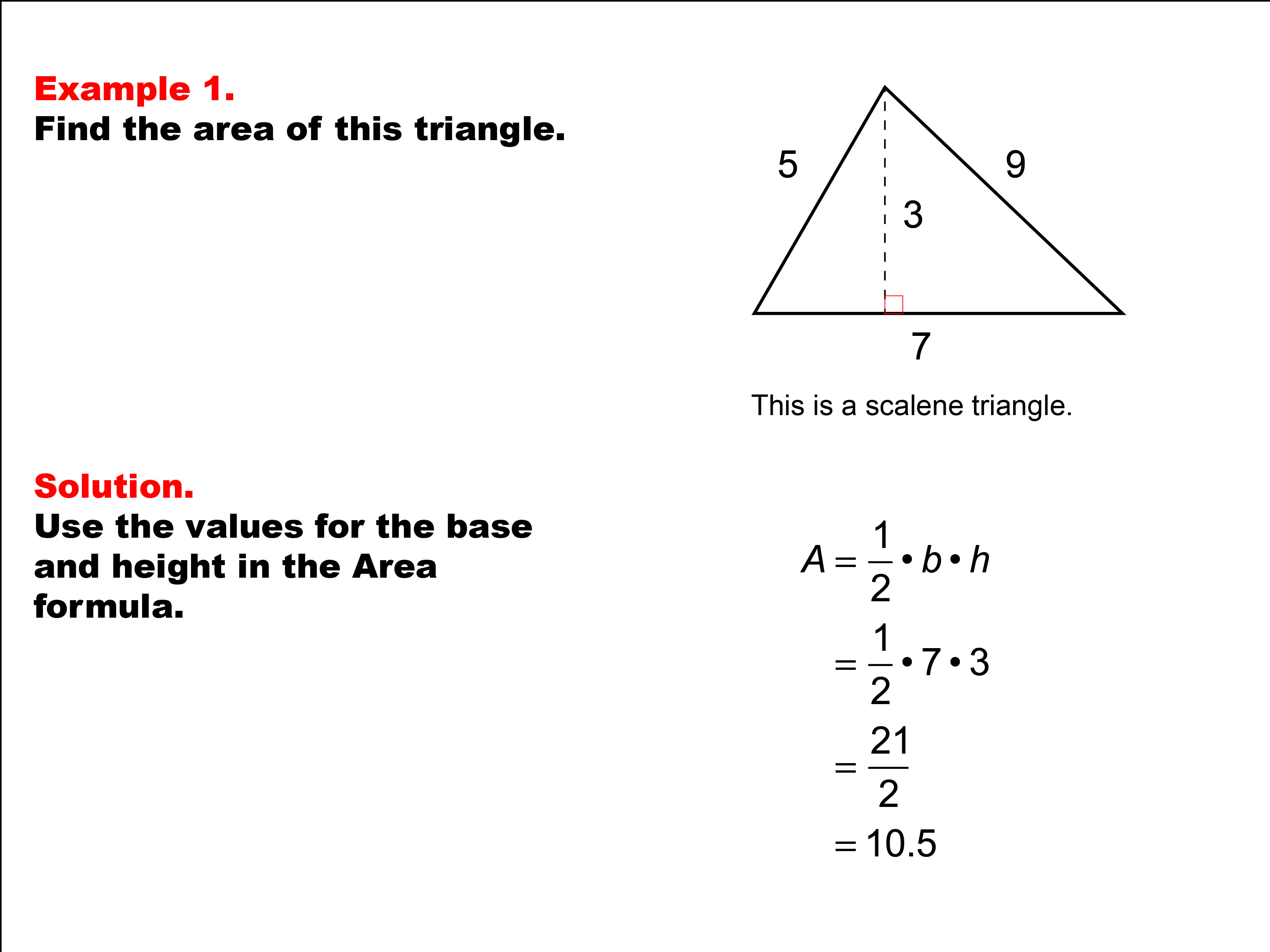 Math Example Area And Perimeter Of Triangles Example 01
