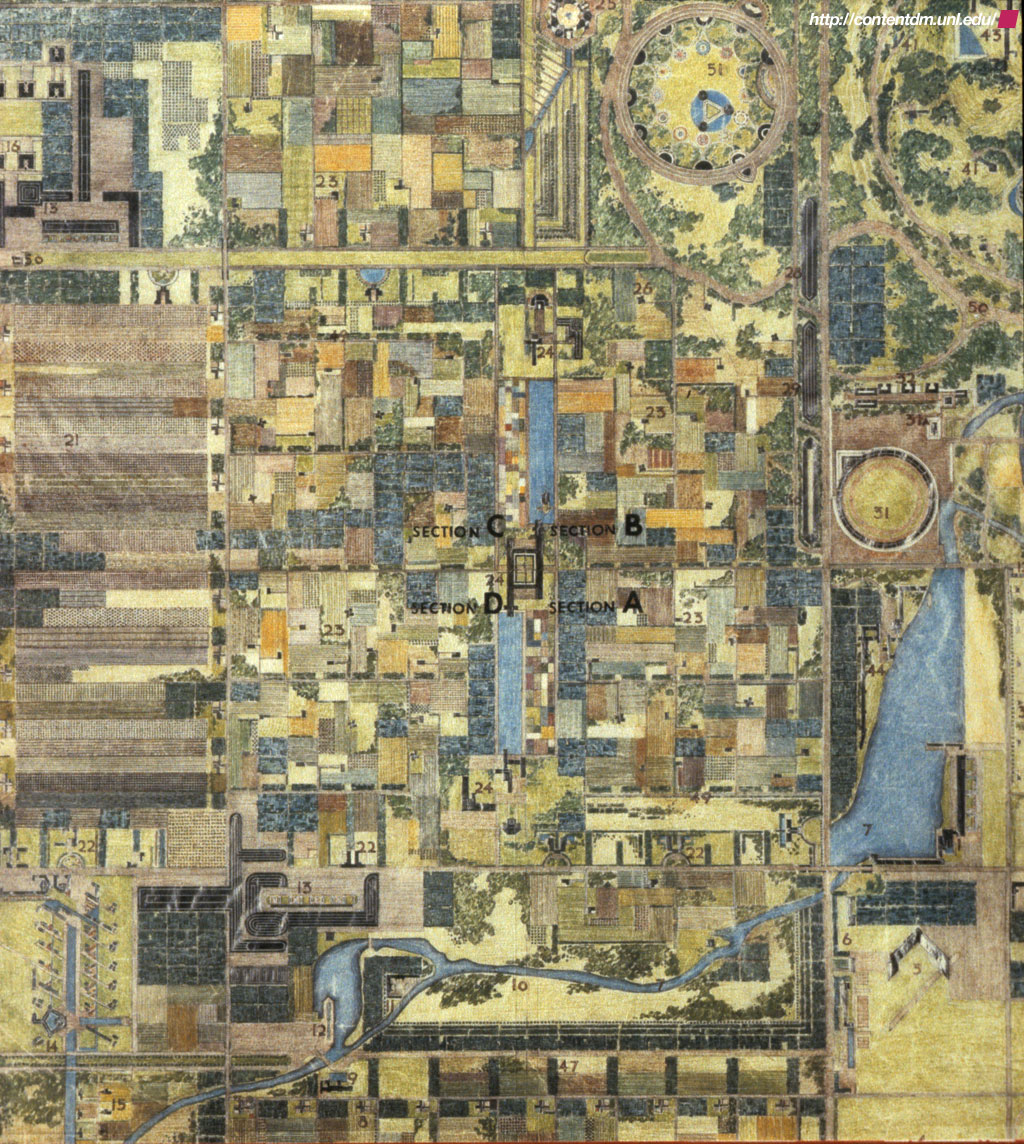 FRANK LLOYD WRIGHT 'Broadacre City' Model And Site Plans