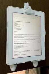 iPad in portrait orientation.