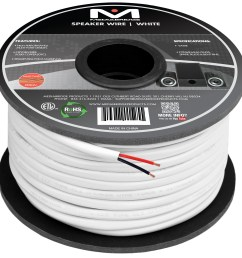 2 conductor speaker wire 99 oxygen free copper etl listed cl2 rated for in wall use 14 gauge 100 feet  [ 3000 x 3000 Pixel ]