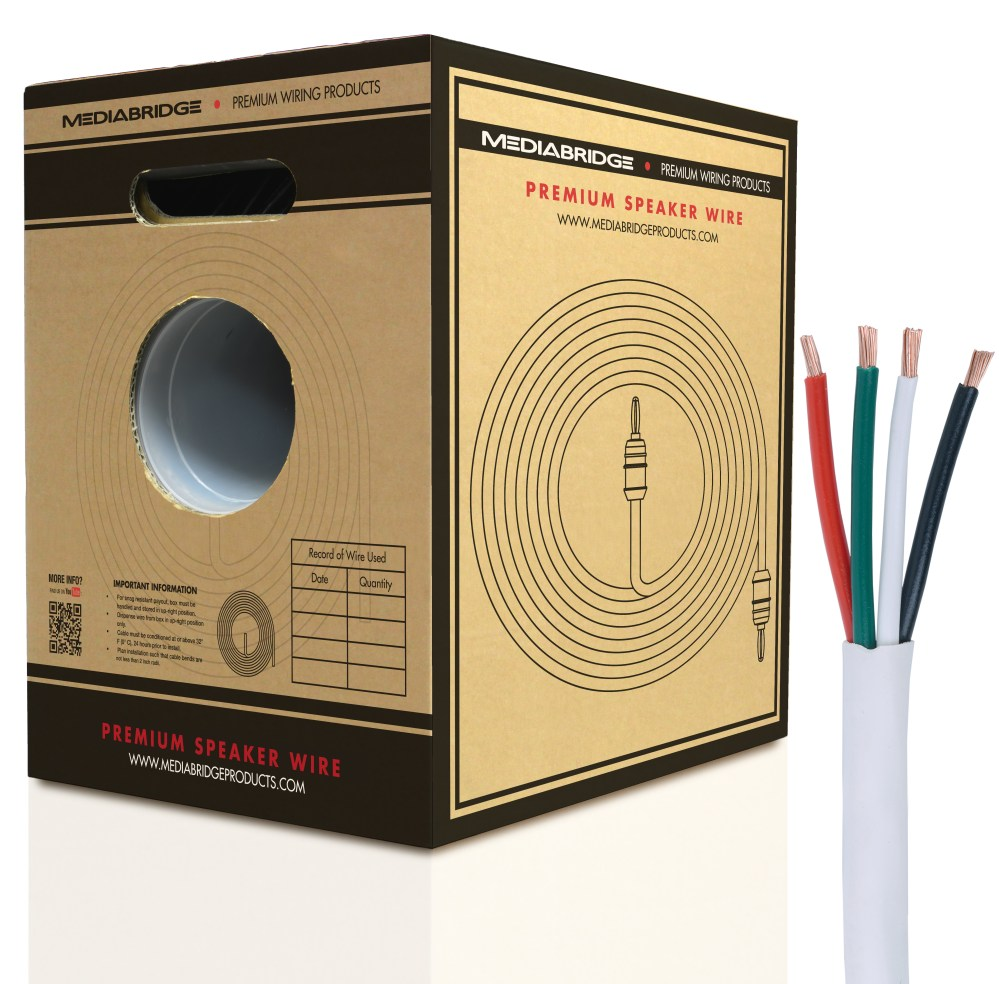 medium resolution of 4 conductor speaker wire 99 oxygen free copper etl listed cl2 rated for in wall use 12 gauge 200 feet