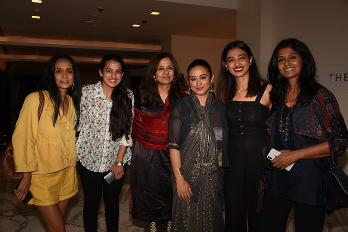 Suchitra Pillai, Tanvi Jindal, Sangita Jindal, Divya Dutta, Radhika Apte & Nandita Das at the launch of India's Got Color