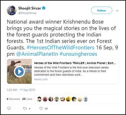 Soojit Sircar tweeted