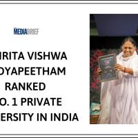 Amrita Vishwa Vidyapeetham ranked No. 1 private university in India