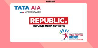 image-Tata AIA Life Insurance & Republic Media Network with Rakshakaran Hero Mediabrief