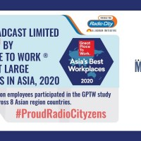 Music Broadcast Ltd (Radio City) ranks 4th on the 2020 Best Workplaces in Asia list