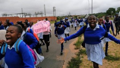 Photo of Njube: Learners demonstrate over a deteriorating education system