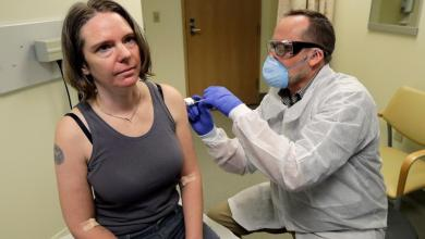 Photo of First person gets coronavirus vaccine trial in USA
