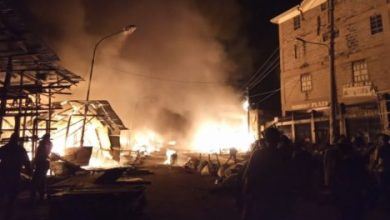 Photo of A SECTION OF GIKOMBA BURNS DOWN.