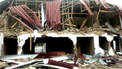 Photo of Nigerians react as Country's High Commission demolished in Ghana