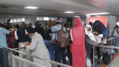 Photo of 94 out of 150 Stranded Nigeria Girls in Lebanon arrives – NiDCOM
