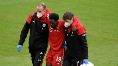 Photo of Alphonso Davies suffers ankle injury