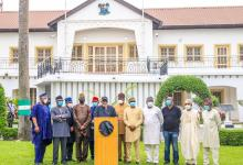 Photo of Fayemi, Akeredolu, Aregbesola, Sunday Dare, Others Visit Lekki