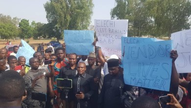 Photo of Newspapers Vendors Protests in Abuja.