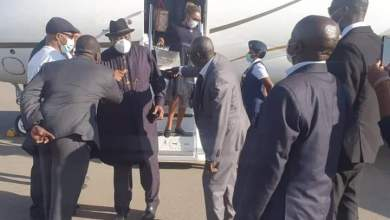 Photo of Goodluck Jonthan arrives Gambia for consultations