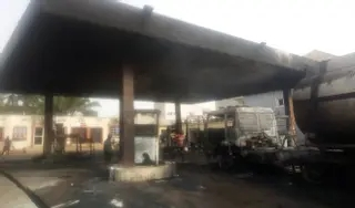 Photo of Hundreds of worshipers narrowly escaped fire burn in Nnewi