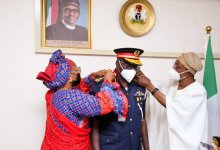 Photo of Aregbesola Decorates New NSCDC Commandant General