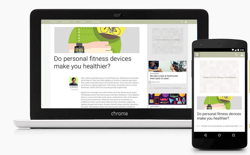 Google lance le Contributor, un service payant pour ne plus voir de pub