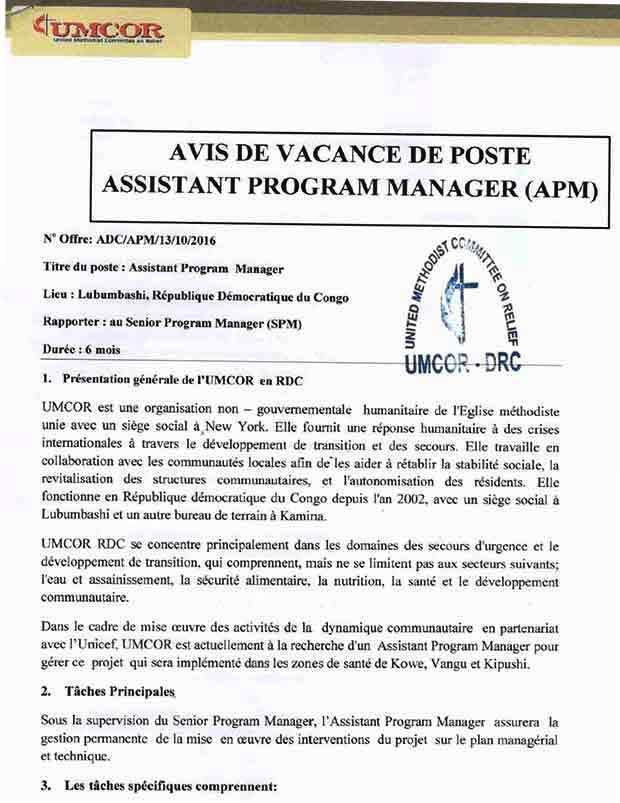 Assistant Program Coordinator Cover Letter