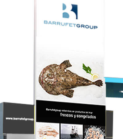 Barrufet Stand - Gráfica para stand comercial