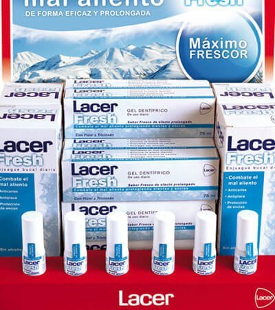 Lacer packaging promocion - Disseny gràfic d'expositor